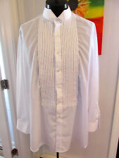 VINTAGE WINGTIP TUXEDO SHIRT PINSTRIPE PLEAT SIZE 18 X 35 2XL5