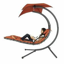 Hanging Chaise Lounger Arc Stand Air Porch Swing Hammock Chair Canopy BC Product