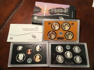 2015 US MINT SILVER PROOF SET ~ WITH BOX & COA 14 COINS