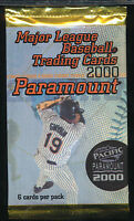 2000 Pacific Paramount Baseball Lot Of 24 Unopened Packs 6 Cards Per Pack