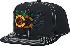 Chicago Blackhawks Disappearing Tomahawk Snapback Hat NHL Reebok Official Cap