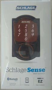 Schlage Sense Camelot Trim Smart Deadbolt - Aged Bronze  - BRAND NEW SEALED BOX