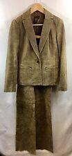 Bcbg Max Azria Pebble Brownish Leather Jacket and Pant Suit 4 Euc