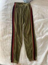 Aviator Nation women's Small velvet 5 stripe sweatpants