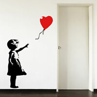 Banksy Childhood Balloon Girl Living Room Bedroom Hallway Wall Art Sticker Decal