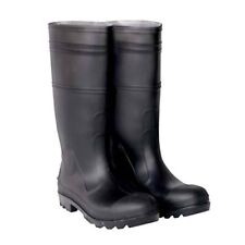 CLC Rain Wear R23012 Over The Sock Black PVC Men's Rain Boot, Size 12
