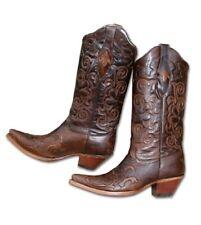 """STARS & STRIPES Westernstiefel Cowboystiefel Ladies """"WBL-03"""" braun Langer Schaft"""