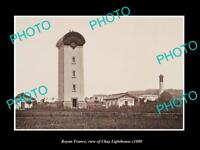 OLD LARGE HISTORIC PHOTO OF ROYAN FRANCE, THE CHAY LIGHTHOUSE c1880