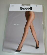 $67 New WOLFORD SEXY JUDITH Fishnet Tights Clove S
