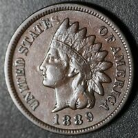 1889 INDIAN HEAD CENT - With LIBERTY & DIAMONDS