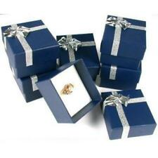 6 Ring Gift Boxes Jewelry Displays Bow Tie Blue