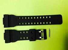16mm Fits CASIO GA100 G-Shock Black Rubber Watch Band GA-110 GA-120 GA-300 GD100