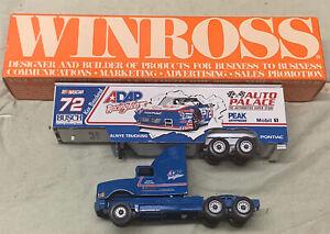 Winross ADAP Auto Palace Racing Team #72 Tractor Trailer Mobile PEAK NASCAR Nice