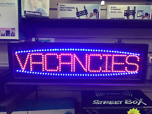 Vacancies Hotel Sign LED Window Light B&B Guesthouse with Hanging Chain - Not No