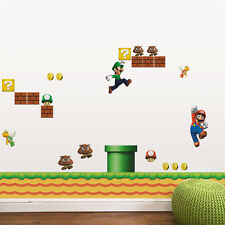 Super Mario Bros Cartoons/Character Children Wall Sticker Bedroom Kids Baby UK