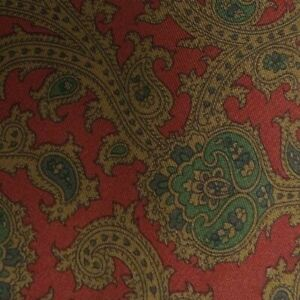 Red Green Paisley Silk Tie