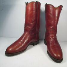 Justin Roper Style L 3510 Redwood Brown Leather Western Boots  Size 7 C /wide/