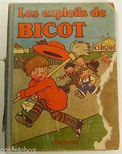 Les Exploits de BICOTS Président de Club ancien album bd eo 1931 Branner Martin