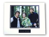 STAR WARS PRINCESS LEIA HAN SOLO LUKE MATTED LICENSED 8X10 PHOTO FOR FRAME 11X14