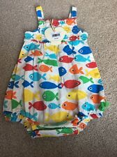 Little Bird By Jools Oliver Rainbow Baby Fish Romper 0-1 Month Retro Newborn