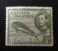 Cayman Islands 1/2D George VI Fish 1938 Stamp