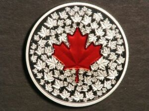 CANADA 2013 $20 Colorized Maple Leaf 1 Ounce Silver Proof