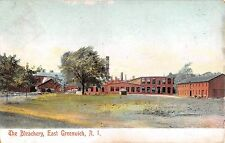 1907 The Bleachery East Greenwich RI post card