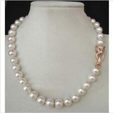beautiful Genuine white akoya pearl necklace 10-11mm 18""