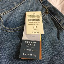 Coldwater Creek women's jeans 12P curvy natural waist bootcut new with tags
