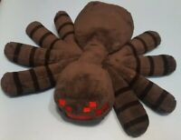 "Minecraft Black PLUSH SPIDER 16"" x 13"" Stuffed Toy Jinx Mojang Game Spin Master"