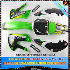MONS. GRAPHICS BACKGROUNDS DECALS for KAWASAKI KLX110 02 03 04 05 06 07 08 09
