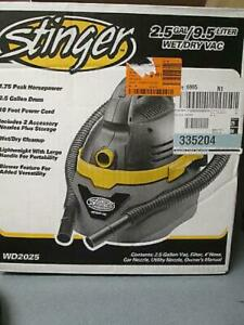 Stinger WD2025 Wet/Dry Vacuum  2.5-gal Converts Into a Blower to Clear Debris