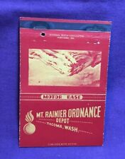 Advertising Matchbook Cover MT RAINIER ORDNANCE DEPOT TACOMA WASHINGTON