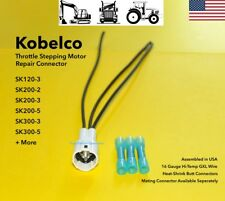Kobelco Excavator Throttle Stepping Motor Stepper Connector Plug Repair Pigtail
