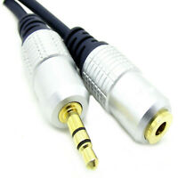 4M Metre OFC 3.5mm GOLD Stereo Headphone Jack Aux Extension Cable Audio Lead