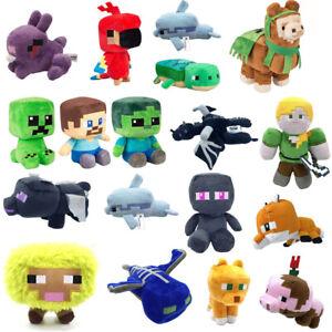 Minecraft Plush Toy Steve Stuffed Animal MC Creeper Doll Soft Plush Toy Kid Gift