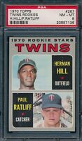 1970 Topps Set Break # 267 Twins Rookies Hill Ratliff PSA 8 *OBGcards*