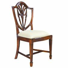 NDRSC040  Niagara Furniture, PAIR Mahogany Shield Back Side Chairs