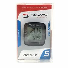 SIGMA BC 5.12 Wired Bike Computer Speedometer, Black