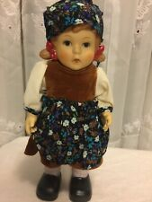 Full Body jointed All Porcelain Doll Hummel look