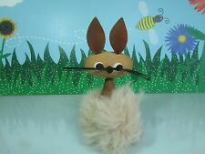 "Bunny Made With Reindeer Hair - 4"" Troll Doll - Made In Sweden - Super Rare"
