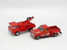 Yatming 1/64 1/100 - Lot de 2 modèles Chevrolet et Camion de Pompiers