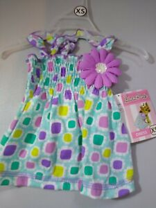 """Lulu Pink Dog XXS  Multicolor Summer Dress New With Tags 6""""-8"""" Adorable - Summer"""