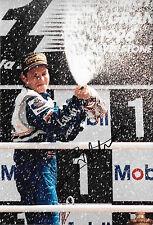 Jacques Villeneuve SIGNED 12x8  British GP Victory Portrait 1997