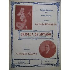 Leoni Georges Criolla Of Antaño Singer Piano partition sheet music score