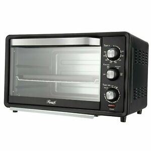 "6-Slice Toaster Oven 19L Countertop Bake/Broil/Toast 12"" Pizza"