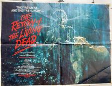 "Original 1985 RETURN OF THE LIVING DEAD UK quad poster 30x40""  RARE"