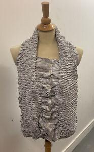 Elastic Collar Shirt - 10 RRP £65 ALEX CHRISTOPHER - VIVIENNE WESTWOOD STYLE