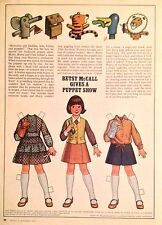 Betsy McCall Mag. Paper Doll, Betsy McCall Gives a Puppet Show, Dec. 1977
