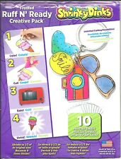 Shrinky Dinks Shrinkable Plastic Frosted Ruff N' Ready Creative Pack 10 Sheets